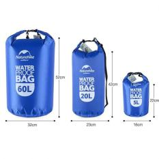 Promo 20L Transparentwaterproof Dry Bag Untuk Outdoor Camping Hiking Swimming Biru Murah