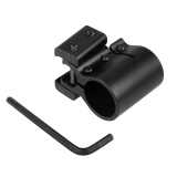 Toko 20Mm Tactical Flashlight Sight Scope Picatinny Weaver Rail Mount Bracket Lengkap