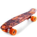 Toko 22 Inch Hellfire Pattern Retro Skateboard Longboard Colormix Intl Dekat Sini