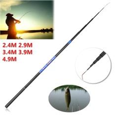 2.4 M-4.9 M Fiberglass Tangan Memancing Rod Ultra Hard Joran Pancing Pancing Ikan Berbentuk Aliran 2.4 M-Intl