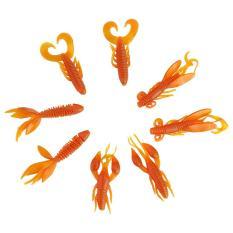 Beli 25 Pcs Silicone Crawfish Worm Lure Umpan Carp Bass Fishing Baits Orange Intl Dengan Kartu Kredit