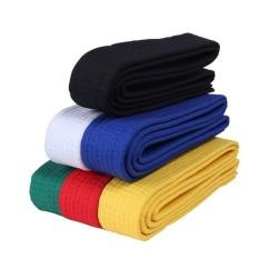 2.8 M Judo Taekwondo Karate Tai Chi Pita Warna-warni Belt Fashion Aksesori Solid Rank Karate Seni Bela Diri dan Sabuk Taekwondo (2.8 M/kuning) -Intl