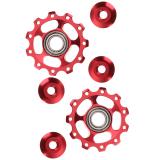 Berapa Harga 2 Buah 11 T Sepeda Aluminium Paduan Bantalan Roda Joki Belakang Derailer Merah Di Tiongkok