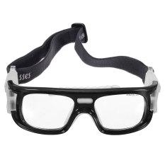 2 Pcs Olahraga Sepak Bola Basket Kacamata Mata Kacamata Pengaman Pelindung Elastis Hitam