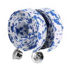 Promo 2Pcs Bicycle An Slip Handlebar Tape With 2 Bar Plugs Blue White Intl Tiongkok