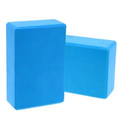 2 Pcs EVA Yoga Blok Bata Busa Foam Practice Kebugaran Sport Alat (Biru)-Intl