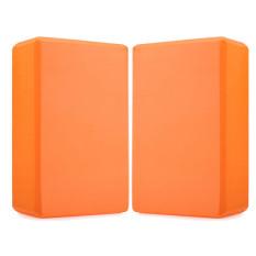 2 Pcs EVA Yoga Blok Bata Busa Foam Practice Kebugaran Sport Alat (Orange)-Intl
