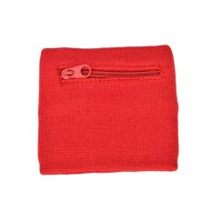 2 Pcs Wrist Dompet Pouch Band Fleece Zipper Menjalankan Perjalanan Gym Bersepeda Aman Olahraga Merah-