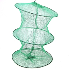 Perbandingan Harga 3 Sections Nylon Cylinder Detachable Fishing Net Pot For Trapping Crab Prawn Green Di Indonesia