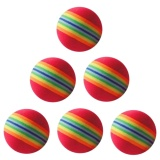 Beli 30 Pcs Indoor Eva Soft Golf Latihan Praktek Bola 38Mm Diameter Rainbow Warna Nyicil