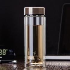Diskon 300Ml Double Wall Glass Water Bottle Tea Cup Mug Bpa Free With Filter Infuser Intl Akhir Tahun