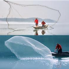 Diskon Besar3 4 Mono Mesh Drawstring Fishing Cast Net Rantai Bawah Penuh Spread 28Mm Kawat Internasional