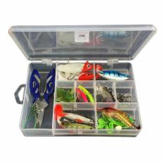 34 Pcs Set Fishing Lure Kits Campuran Universal Berbagai Macam Umpan Pancing Set Dengan Fishing Tackle Box Termasuk Spinners Vib Kait Treble Single Kait Putar Tang Pemimpin Dll Untuk Air Tawar Air Memancing Intl Terbaru