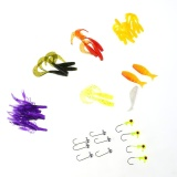 Toko 35Pcs Soft Pvc Fishing Lure Baits Fishing Tackle With 10 Lead Hooks Intl Online Terpercaya