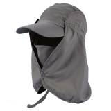 Spek 360° Outdoor Fishing Hiking Hunting Ear Flap Neck Cover Sun Uv Protection Adjustable Cap Dark Grey Intl Tiongkok
