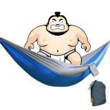 Toko 360Dsc Blok Warna Kain Parasut Single Tempat Tidur Gantung Tempat Tidur Gantung For Wisata Berkemah Di For Luar Ruangan 220 Cm X 100 Cm Biru Abu Abu Yang Bisa Kredit