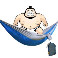Ulasan Mengenai 360Dsc Blok Warna Kain Parasut Single Tempat Tidur Gantung Tempat Tidur Gantung For Wisata Berkemah Di For Luar Ruangan 220 Cm X 100 Cm Biru Abu Abu