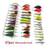 Jual 37 Pcs 5 Gaya Fishing Lures Set Plastik Keras Wobbler Crankbait Minnow Warna Campuran Fishing Umpan Internasional Import