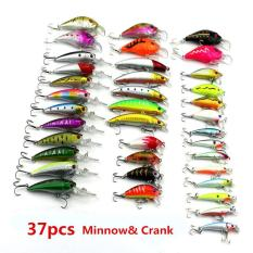 Review Terbaik 37 Pcs 5 Gaya Fishing Lures Set Plastik Keras Wobbler Crankbait Minnow Warna Campuran Fishing Umpan Internasional