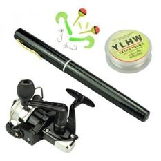 38 Inch Pocket Pen Rod Set, Mini Fishing Rod dan Reel Combo, Portable Travel Fishing Gear Dalam Kotak, Hadiah Bagus untuk Hari Ulang Tahun, Festival, Natal (Hitam) -Intl