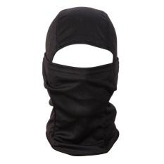 Miliki Segera 3D Kamuflase Camo Tutup Kepala Balaclava Masker Wajah Untuk Berburu Memancing Hitam Intl