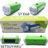 Spesifikasi 3In1 Senter Led Radio Speaker Lampu Led Multifungsi Rechargeable Tenaga Surya E68 Baru