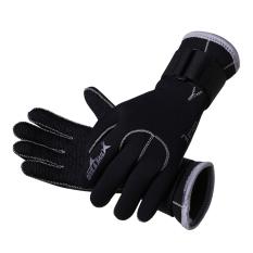 Beli 3Mm Neoprene Renang And Menyelam Sarung Tangan Anti Slip Sarung Tangan For Menyelam Renang Snorkeling Hitam S Kredit