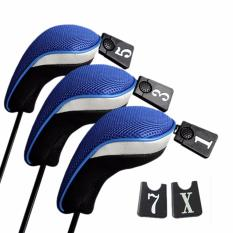 Jettingbuy 3 Pcs Golf Club Head Covers Blue-Intl By Jettingbuy.