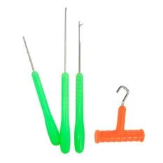 4 Dalam 1 Memancing Carp Memancing Pengumpanan Rig Alat Set Umpan Jarum Bor Simpul Puller Stringer dan Driller-Internasional