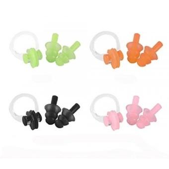 Pencarian Termurah 4 Pack Silikon Hidung Klip dan Telinga Plugs untuk Orang Dewasa Kidsswimming Pelindung-
