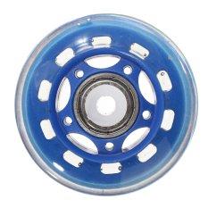 4 buah 64 mm 82 amp pengganti bersepatu roda Skate sepatu Skate biru tua - Internasional