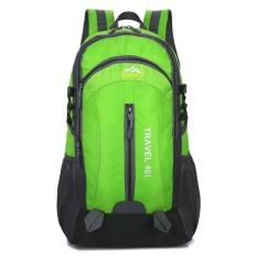 40l Pendakian Tas Waterproof Terylene Bahan Unisex Perjalanan Camping Olahraga (hijau)-Intl By Sportschannel.