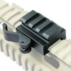 Tips Beli 40Mm Tactical Quick Release Bracket 3 Slot Rifle Picatinny Weaver Universal Adaptor Riser Rail Intl