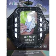 (4.7 ''Hijau) Romix Rh19 Brazalete Pulsera Caja Ultrafina Respirable Recargable LED Banda De 5.5/4.7 Pulgadas Teléfono Funcionando Bolsa-Intl