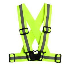 4Cm Unisex Adjustable Reflective Vest High Visibility Safety Straps For Jogging Cycling Walking Running Intl Oem Murah Di Tiongkok