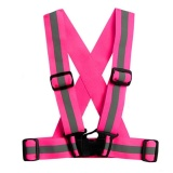 Review 4Cm Unisex Adjustable Reflective Vest High Visibility Safety Straps For Jogging Cycling Walking Running Intl Oem Di Tiongkok