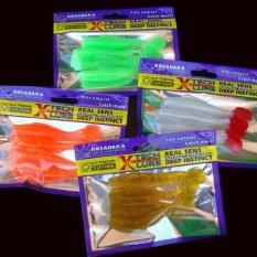 4 PC Soft Lure untuk Memancing Shad FishingWormSwimbaits Jig Kepala Soft Fishing Bait-Intl