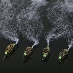 4 Pcs Tahan Lama Nilon Pancing Bersih dengan Manik Bercahaya Pancing Tackles (12 #)-Internasional