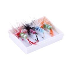 4 Pcs Bulu Serangga Berbentuk Logam Memancing Umpan Umpan dengan BOX-Intl