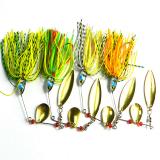 Kualitas 4 Pcs Set Metal Fishing Baits Metal Fishing Lure Spinnerbait Soft Umpan Internasional Oem