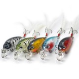 Toko 5 Pcs 4 5Cm Fishing Lures Crank Baits Mini Crankbait Lifelike Artificial Lure Bait With Feather Hook Intl Tiongkok