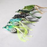 Harga 5 Pcs Toad Soft Plastic Hollow Fishing Lure Crankbait Hooks Bass Bait Frog Intl Oem Asli
