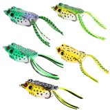 Spesifikasi 5 Pcs Top Water Soft Bait Hollow Frog Fishing Lures Spoon Lures Crankbaits For Bass Snakehead In Saltwater Freshwater Intl Merk Oem