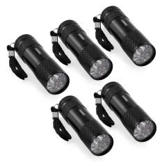 Diskon 5 Buah Sinar Uv Ultra Ungu Cahaya Hitam 9 Memimpin Senter Cahaya Obor Lampu Di Luar Rumah