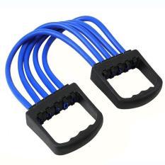 5 musim semi karet dada menggunakan mesin Expander tarik tandu olahraga kekuatan otot melatih senam - International