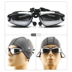 50 Pcs Asli D807 Feiupe Anti-kabut Anti Sinar UV Berenang Olahraga Kacamata Renang Pria Kacamata Wanita Dewasa Pakaian Renang Tahan Air Kacamata Hitam-Intl