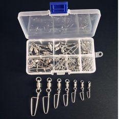 Jual 50 Pcs Pack Perikanan Putar Snap Rolling Swivel Konektor Ball Bearing Curve Tipe Pin Stainless Steel Dengan Tackle Box Intl Import