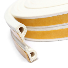 5 M P Jenis Konsep Diri Perekat Pintu Jendela Excluder Busa Karet Seal Strip Pita Putih