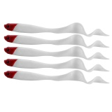 5Pcs 13Cm Soft Curly Tail Fishing Fish Lure Tackle Red Head Intl Tiongkok
