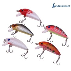 Harga 5Pcs 6 5G 5Cm Fishing Lures Kit Minnow Artificial Wobble Fishing Baits Intl Origin